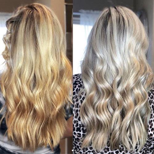 Platinum Blonde Hair from Golden Blonde